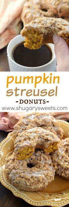 Pumpkin Streusel Donuts