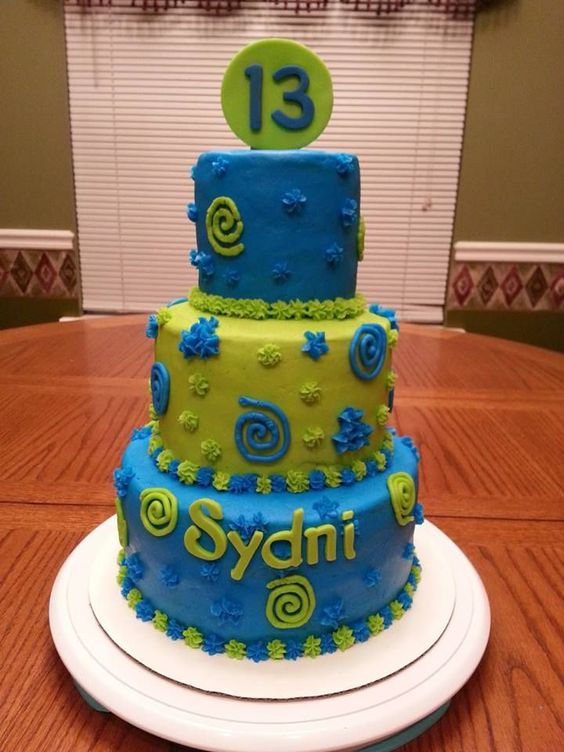 Lime green and blue cake bright neon blue lime green for Lime and blue