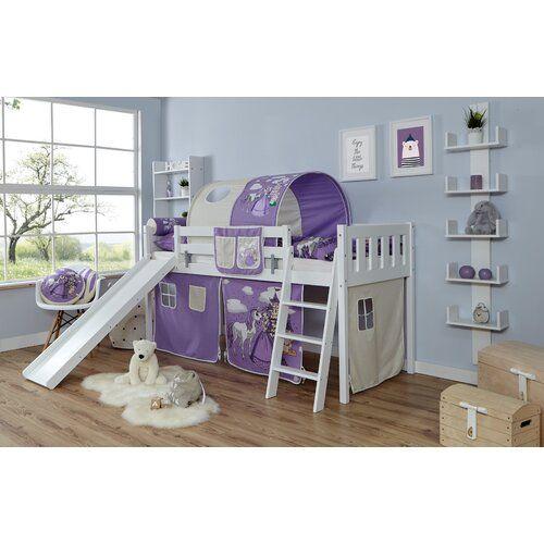 Halbhochbett Ramos 90 X 200 Cm Isabelle Max Farbe Bettgestell Weiss Ausfuhrung Premium Plus Mit Lattenrost Und Matratze Farbe Textil Lila In 2020 Bed Toddler Bed Home Decor