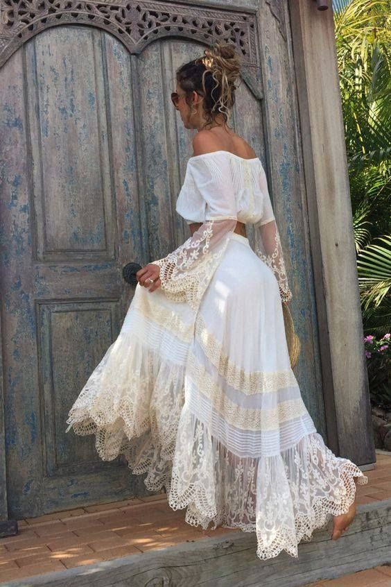 Peasant Style Wedding Dress Unique Pin By Nana Nguyen On Dreams In 2020 Boho Summer Outfits Boho Fashion Bohemian Style