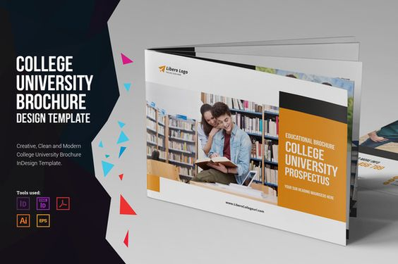 College University Prospectus v2 Brochure template, College and - university brochure template