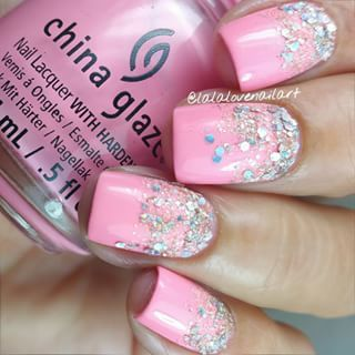 pink • glitter