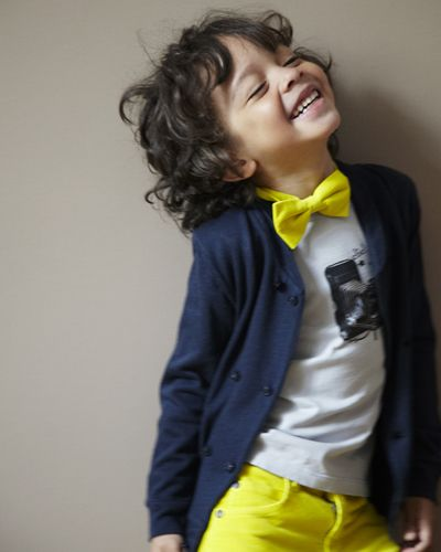 bow tie with a bright smile