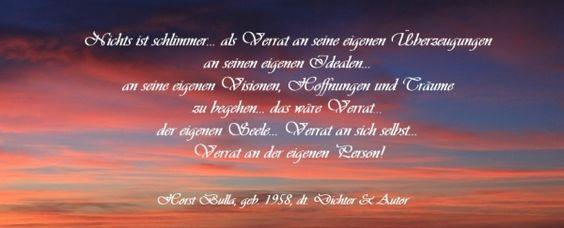 Bildzitat Nichts ist schlimmer - Zitat von Horst Bulla.  - Gedichte - Zitate - Quotes - deutsch