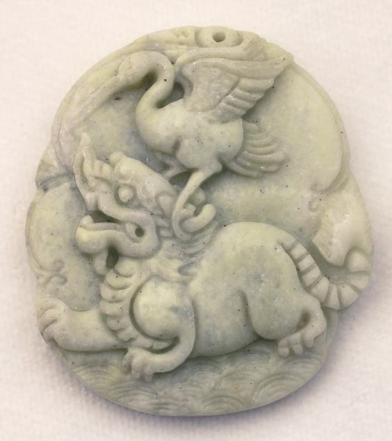 Metaphysical Gifts, Cards, Wrap and Crystals | Life Is A Gift Shop - Mint Green Jadeite Jade Hand-Carved Ibis and Lion Fu Dog Pendant with Jadeite Bead - great for thyroid health, $26.00 (http://lifeisagiftshop.com/mint-green-jadeite-jade-hand-carved-ibis-and-lion-fu-dog-pendant-with-jadeite-bead-great-for-thyroid-health/)