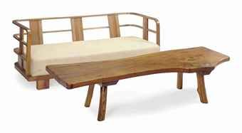 A FRENCH WALNUT SOFA,