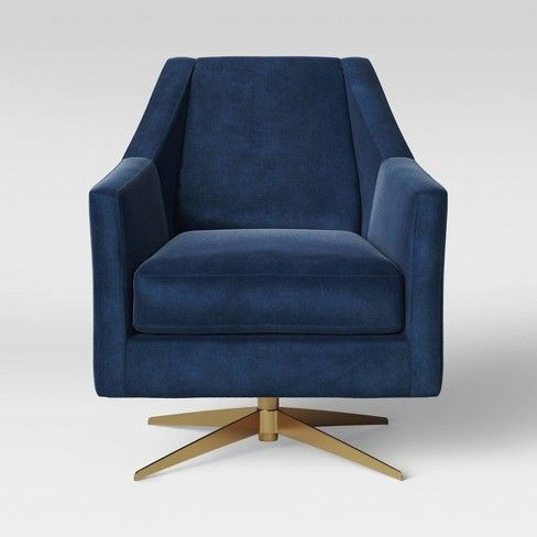 Tate Swivel Chair With Metal Base Blue Project 62 Target