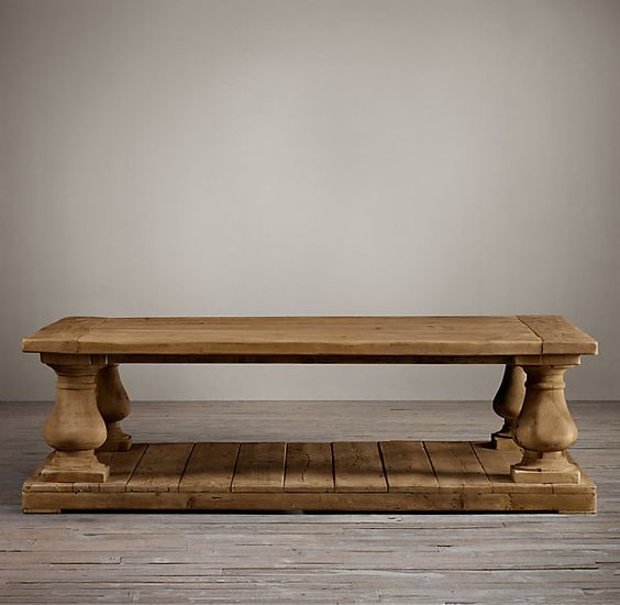 Balustrade Salvaged Wood Coffee Tables Coffee Tables Restoration Hardware Things That Will
