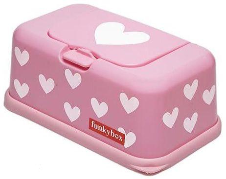 14,50 Box: voor vochtige doekjes, Funkybox  De funkybox is een boxje waarin je babybillendoekjes bewaart. Deze box is onmisbaar in de babykamer en staat bijna altijd op of bij de commode. De funkybox is ver