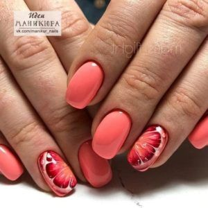 Coral Color Nail Designs Coral Nails Designs Peach Spring