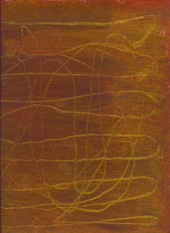 Metallic Abstract Painting  Original Artwork , $15.00