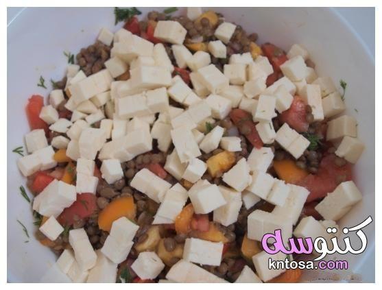 سلطة البحر الأبيض المتوسط مع العدس والجبن Kntosa Com 03 19 156 Feta Cheese Cheese Feta