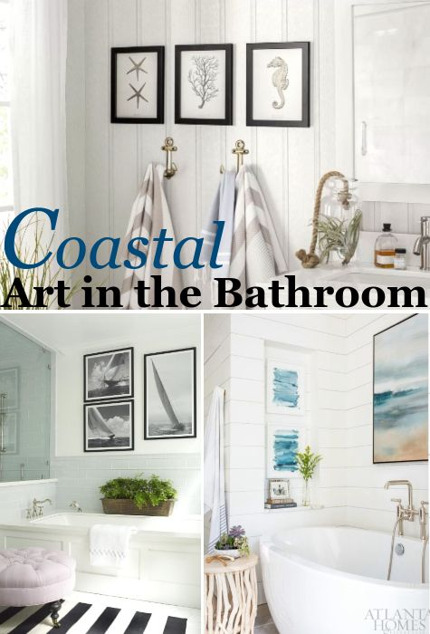 Coastal Wall Art Decor Ideas For The Bathroom Coastal Bathroom Decor Nautical Bathroom Decor Coastal Style Bathroom