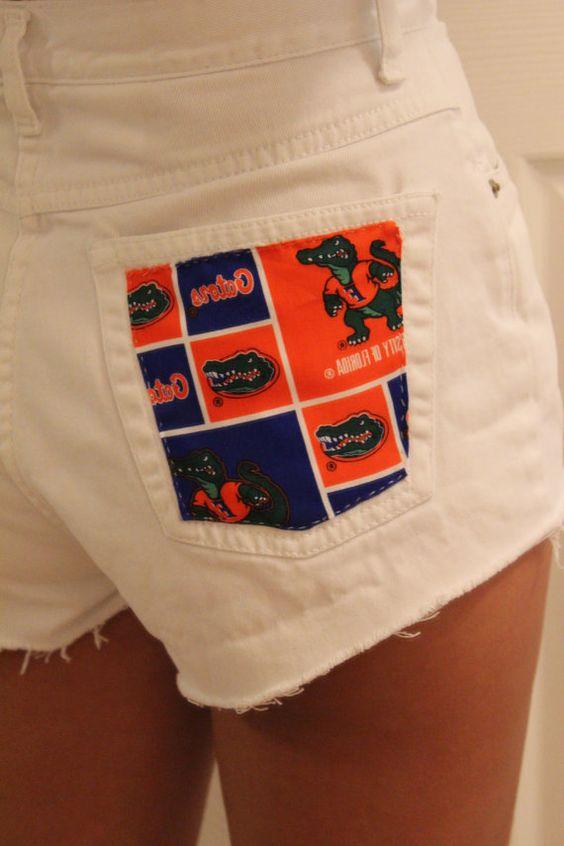 Florida Gators white cut off shorts