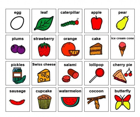 Very Hungry Caterpillar - visuals!! - -  Pinned by @PediaStaff – Please Visit http://ht.ly/63sNt for all our pediatric therapy pins
