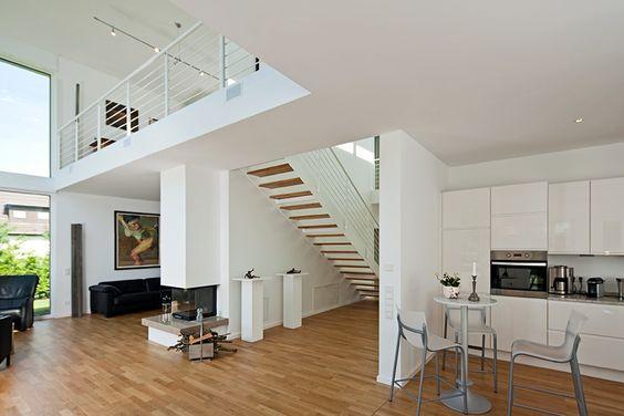 Haus Jonas 7 Neuer Grundriss Pinterest Haus, Interior - moderne wohnzimmer mit galerie