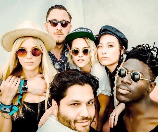 Kristen Stewart and friends at 2016 Coachella