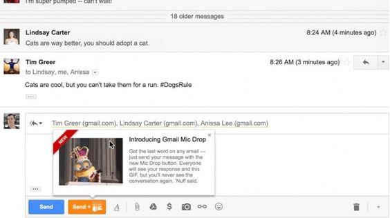 Google Joke in April Mop with Mic Drop
