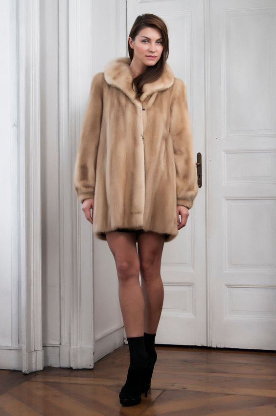 Palomino Mink Fur Coat Pelliccia Visone Nerz Pelzmantel Pelisse Vison Abrigo | eBay