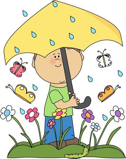 Springtime Clip Art Rain