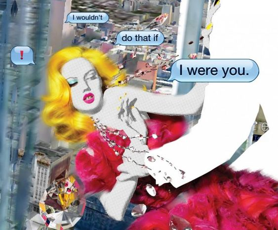 Editorial ,Garage Magazine By Nick Knight, AW2012-13 with Lindsey Wixson, Comic Strips  inspired by Roy Lichtenstein