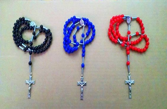 Handmade Catholic Beaded Rosary Necklace In by TheclickEmart