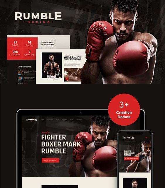 Rumble Boxing Mixed Martial Arts Fighting WordPress Theme In 2021 Martial Arts Mixed Martial Arts Boxing Events
