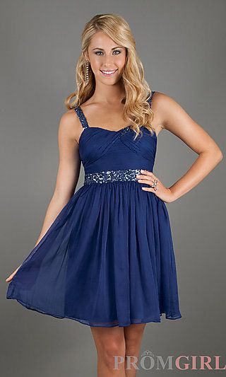 Blue Short Semi-Formal Dress  dresses  Pinterest  Shops Blue ...