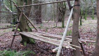 Bushcraft 'A' frame bed