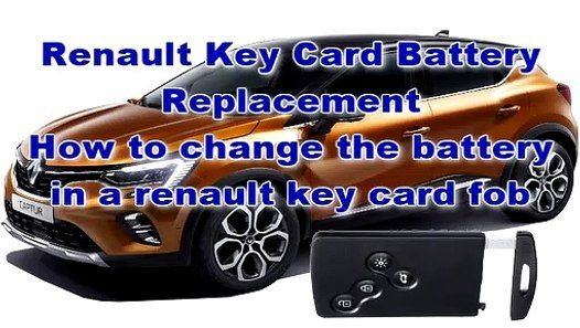 Renault Key Card Battery Replacement How To Change The Battery In A Renault Key Card Fob Renault Fobs Replacement