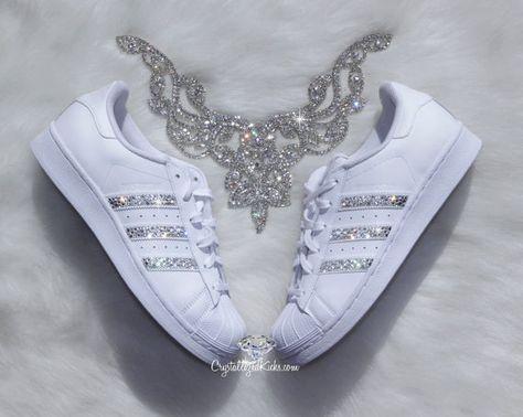 adidas superstar glitter bianco