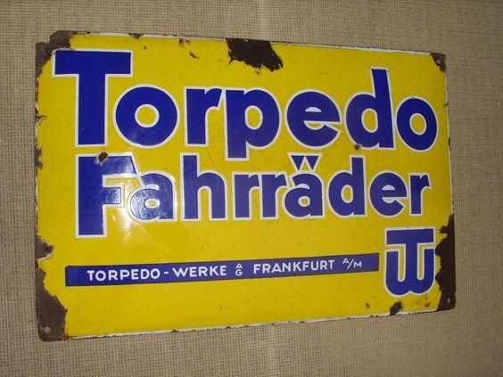 TORPEDO Fahrräder Emailschild gewölbt Torpedo Werke Frankfurt Main | eBay