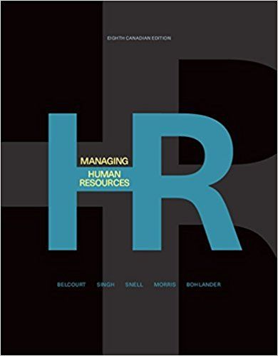 Managing Human Resources Canadian 8th Edition Belcourt Solutions Manual Human Resources Manual