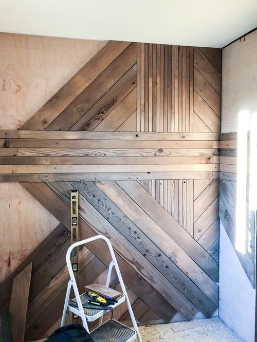 The Basics Of Building A Graphic Wood Accent Wall Wood Accent