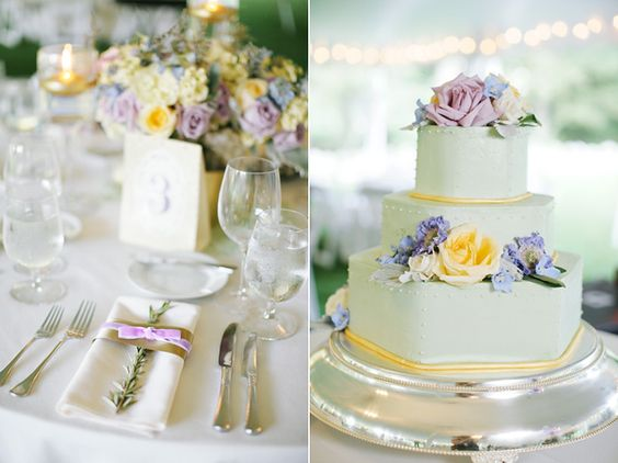 Soft pale yellow and purple palette.  Image courtsey of Lara Kimmerer Photography www.larakimmerer.com Design by Karla Cassidy Designs. http://www.karlacassidydesigns.com