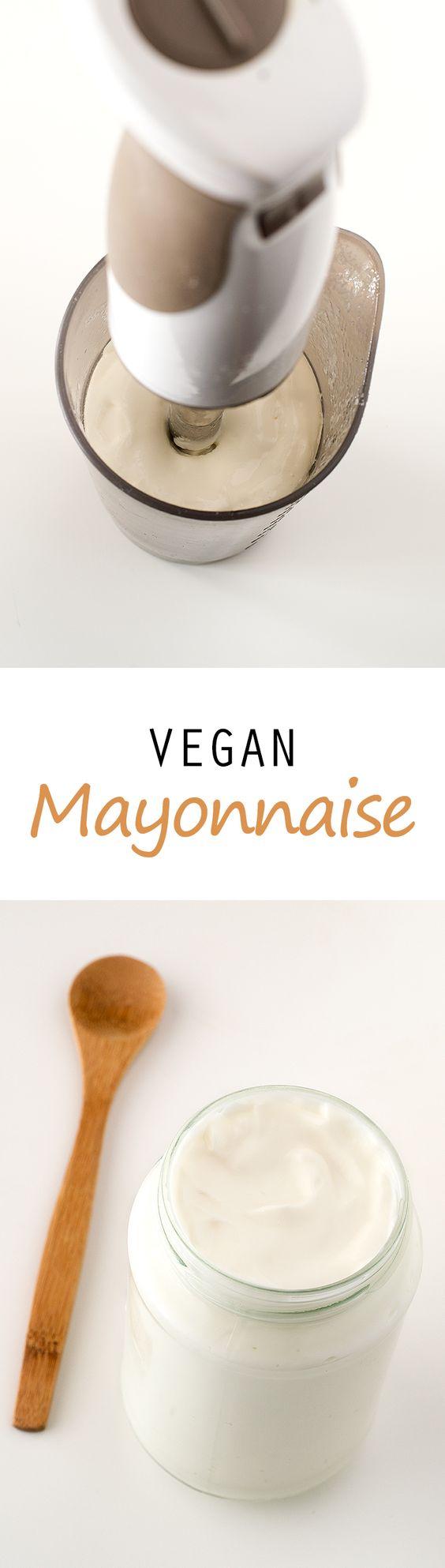 Vegan Mayonnaise #vegan #glutenfree