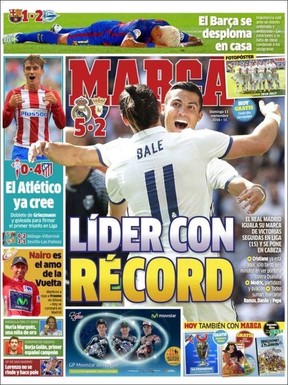 LaLiga: Buenos días!   Estas son las portadas de la prensa deportiva española este domingo 11 de septiembre. https://t.co/pKEsGI1frn #L