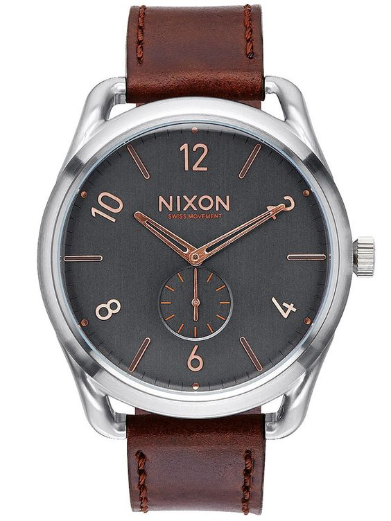nixon c45 leather grey rose gold mens watch a465 2064 watchs nixon c45 leather grey rose gold mens watch a465 2064