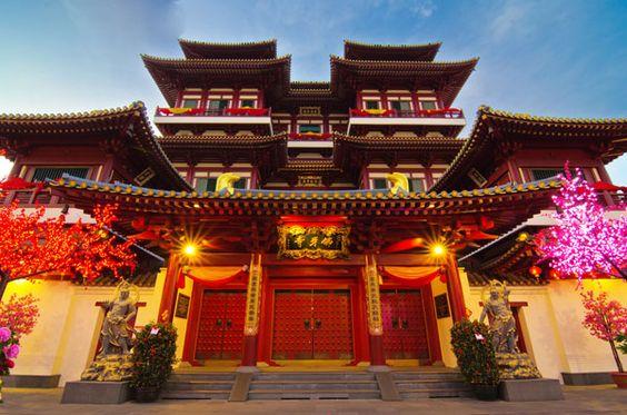 Chùa Răng Phật được thiết kế theo kiến trúc Trung Hoa