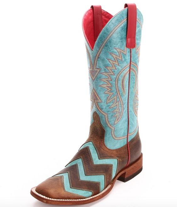 Macie Bean Turquoise Wave on Wave Boots