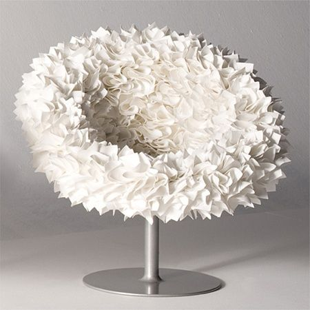 PLI en papier   Bouquet Chair, 2008 Tokujin Yoshioka, Moroso mousse, cadre en acier, microfibre: