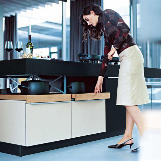 Poggenpohl +MODO black & mineral white cabinet trays