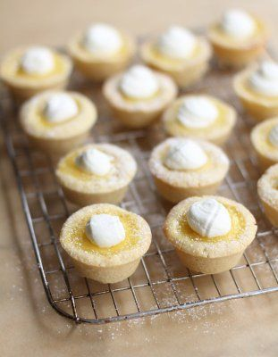 Sugar Cookie Lemon Tarts | ou'll love these simple, fresh lemon tarts with no finicky crusts. Just bite-sized lemony-goodness with a sweet cookie crust.