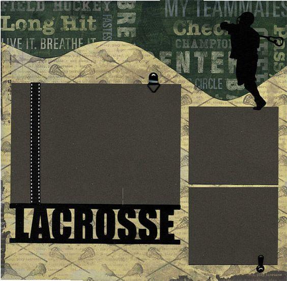 Lacrosse Premade Scrapbook Page Set by SusansScrapbookShack