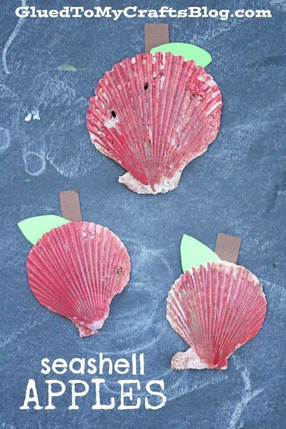 Seashell Apples - Kid Craft