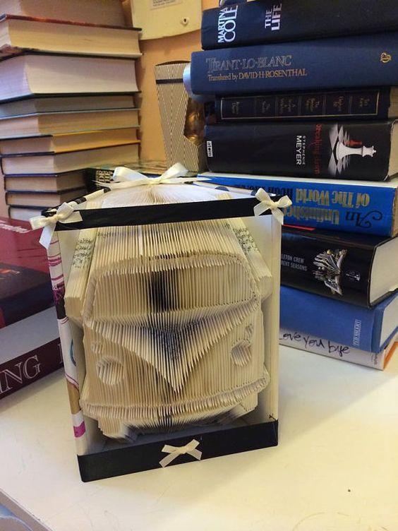 Camper Van Book Folding Pattern 349 folds by JellyBeanBookArt