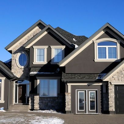 Exterior colors dark gray houses and house exterior for Brick selection for houses