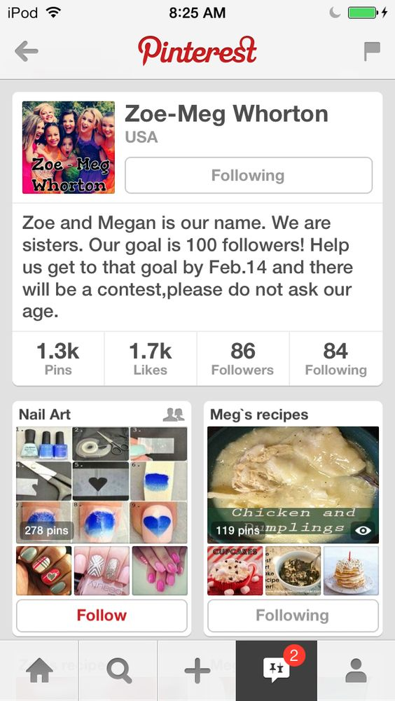 Please follow @Zoe James-Meg Whorton they need to get to 800!! Please follow them!!!