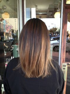 balayage short brown straight , Google zoeken