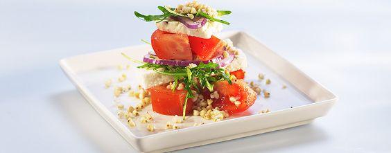 Bovetesallad med tomat